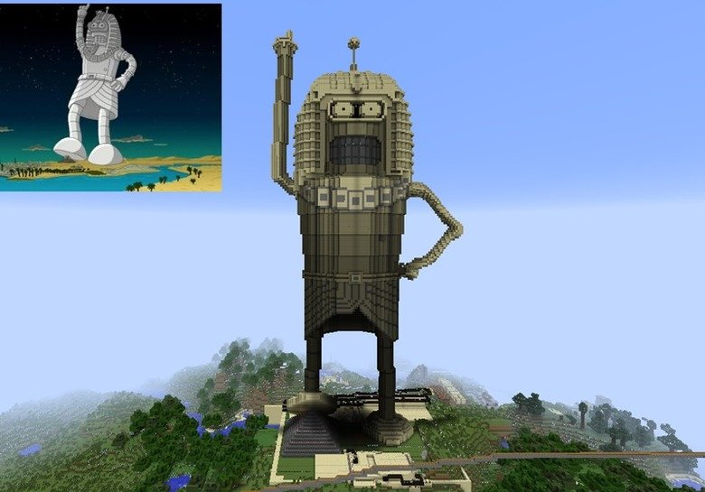 Bendercraft. REMEMBER ME.. But does it shoot Fire charges out of its eyes?