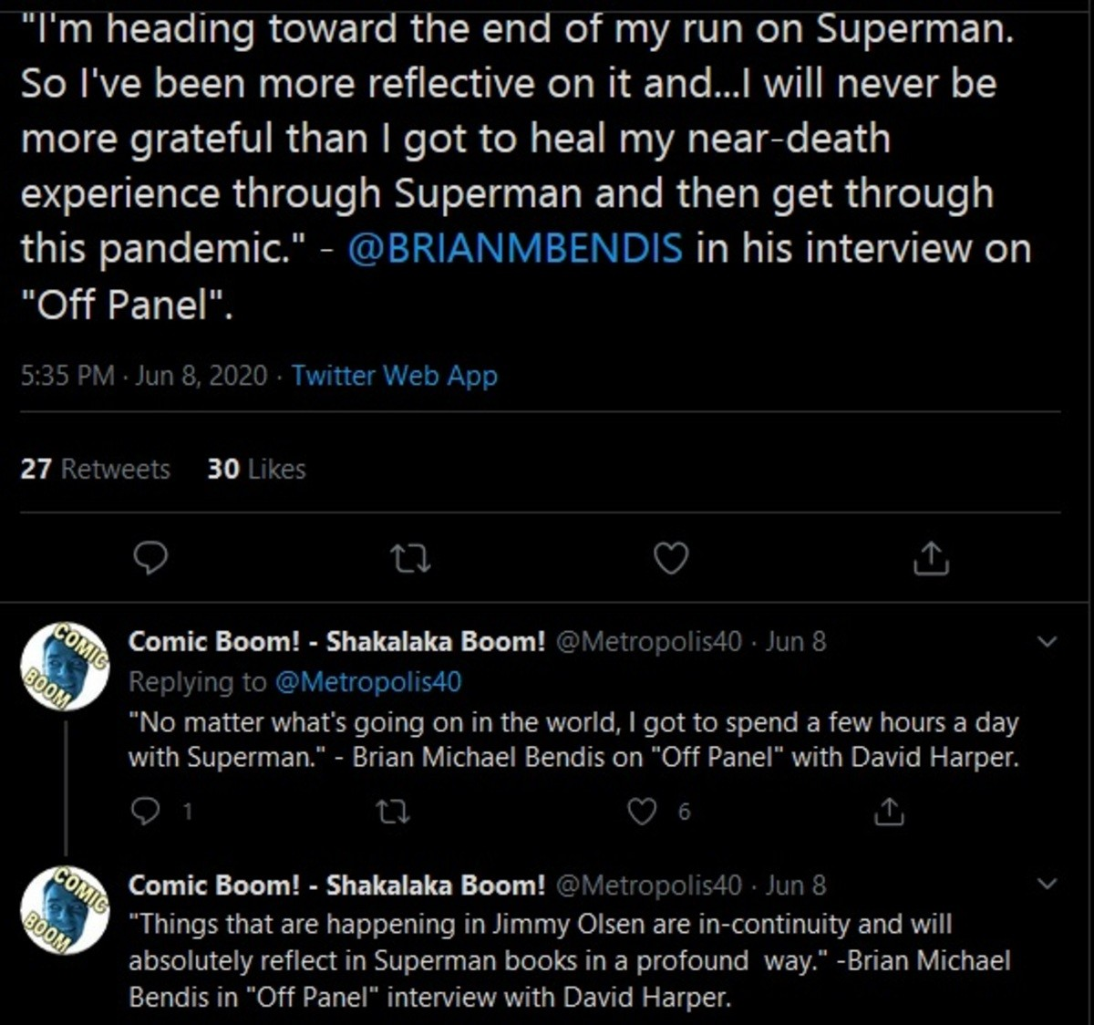Bendis is Leaving. .. Marvel is still recovering from the last time he was there. I can only imagine how long the damage will last at DC.