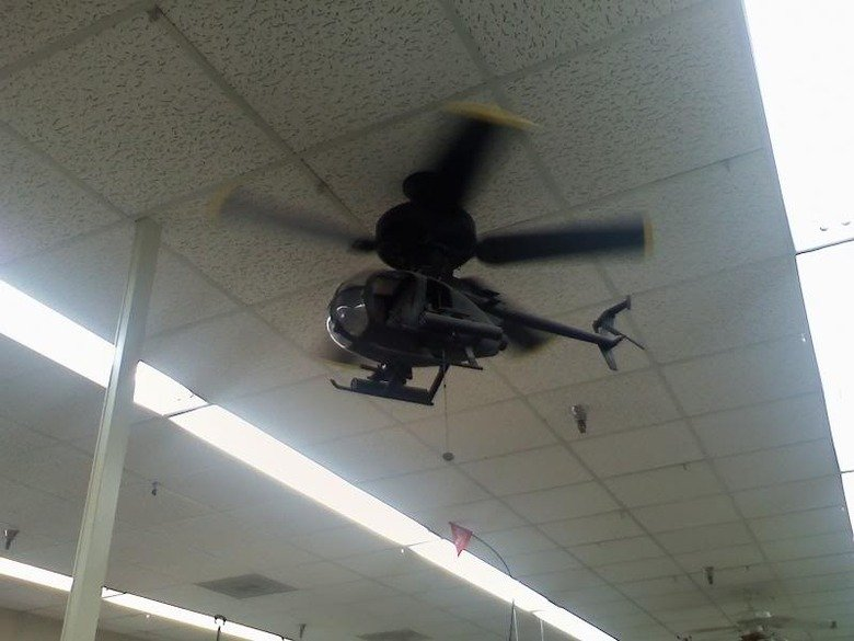 Best ceiling fan ever. AAARGGGH GET TO THE CHOPPA.. I hope they gave clear instructions on how to install it.