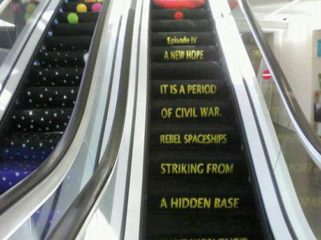 Best escalator ever. .. This is on front page right now.