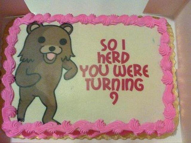 BEST.CAKE.EVAR. this is the funniest cake i have ever seen.. I got a present for you child..its in my van...