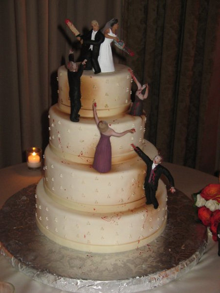 best wedding cake ever. .. im betting that was the husbands idea