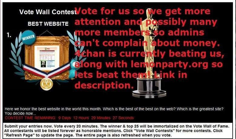 "Best Website. <a href=""Website/2010/06"" target=blank>tweeter.faxo.com/Best_Website/2010/06</a>. Vote Wall Contest BEST WEBSITE Here we hon"