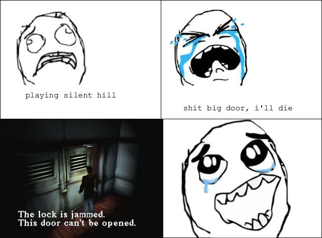 best feeling while playing silent hill. OC 4th post. playing silent hill The lock is ltin! % 2 This dual' can' t. be