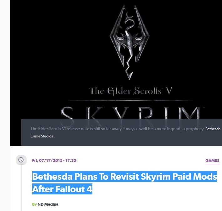 Bethesda Finna Pull Some Bull. Remember: Bethesda wants you to pay for Fallout 4, then they will want you to pay THEM, not the mod maker a majority cut for the