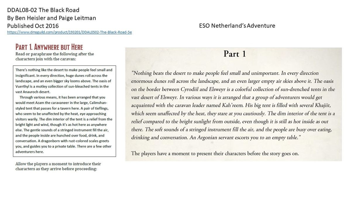 Bethesda plagiarizes DND. A promotional Elder Scrolls-themed tabletop RPG adventure released by Bethesda Tuesday contained widespread instances of apparent plag
