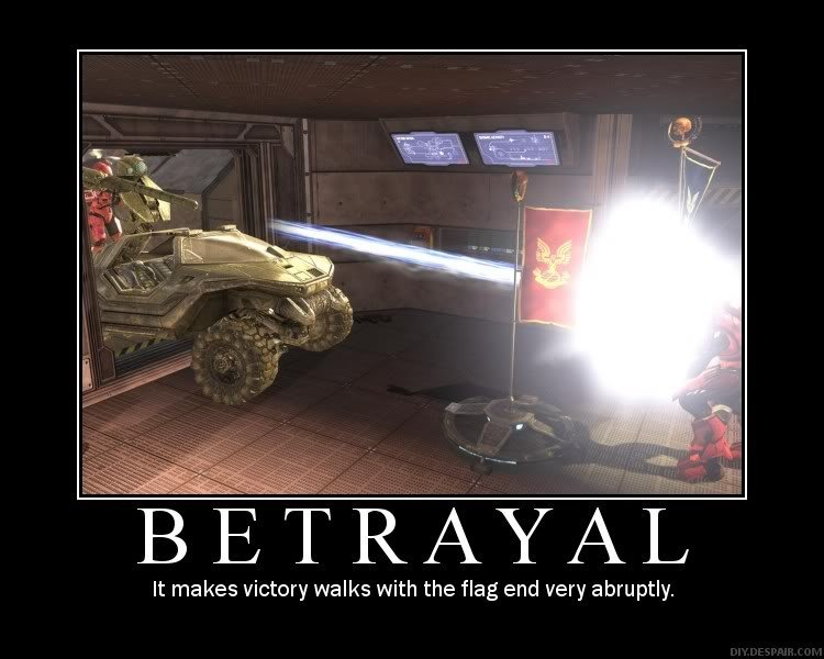 Betrayal. . in. cus BETRAYAL It makes victory walks with the flag end very abruptly.