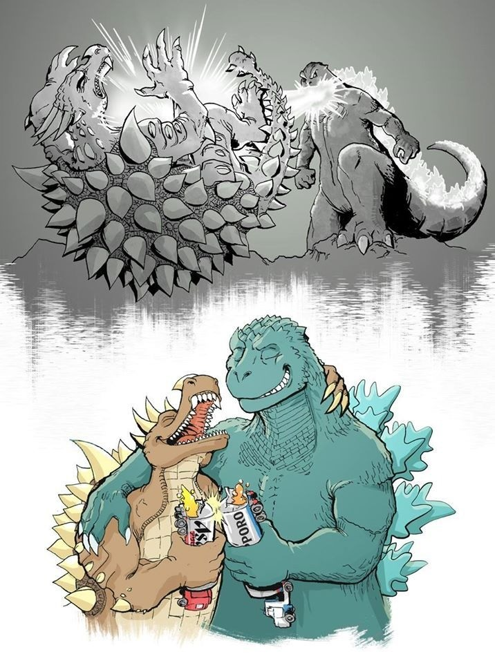 bets Friends. .. Anguirus better be in the monsterverse at some point