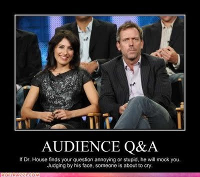 Better ask another one!. FAST!. AUDIENCE Q& A If PM finds yhur cu estilo annoying or striper. he will mock you Judging by tame. ; is abou, tip cry