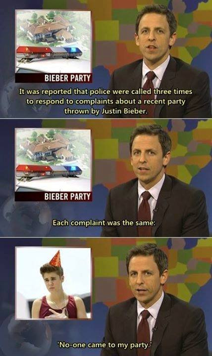 Bieber's party. . BIEBER PARTY It Wds were called t, hatee tiities to responded obout a party threw. -m by Justin Bieber. WEBER PARTY Each was the same: Nomore