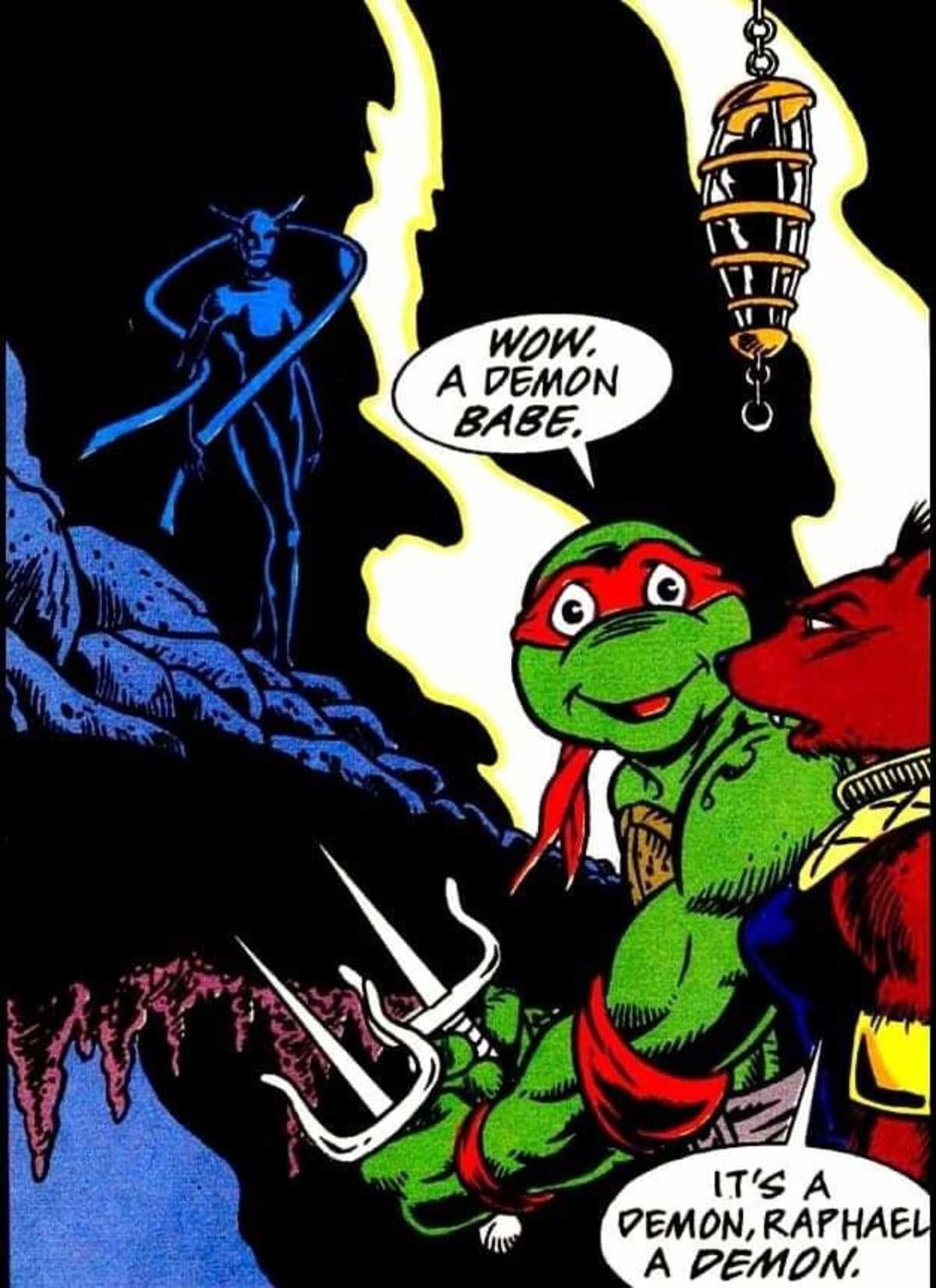 Big goth GF. .. Raphael already has a girlfriend, and they are god damn adorable