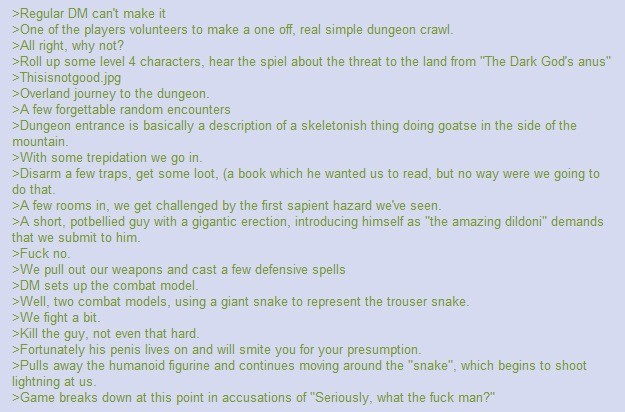 big dong. . can' t make it kilns sothe players volunteers to make a one off, real simple dungeon crawl. right, why not? up scrn. e level 4 characters, hearths s