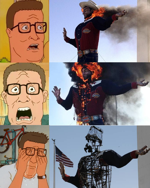 Big Tex. STAHP... What if you told him it was started with propane