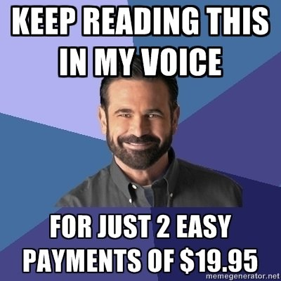 BILLY MAYS HERE!. . READING THIS PM my 2 EASY. I luld my arse off