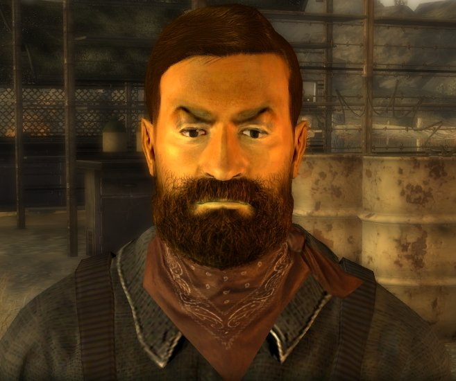 Billy Mays in Fallout New Vegas. It's Billy Mays!!!! Found this guy at the Grub n' Gulp Rest Stop north of the REPCONN Headquarters in Fallout New Vegas. His na