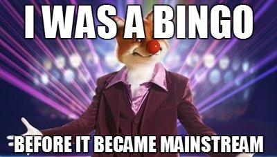 Bingo.. This is my OC, and first post ;D. tir/ i% ts II BECAME. I didnt like bingo before he became a faggot
