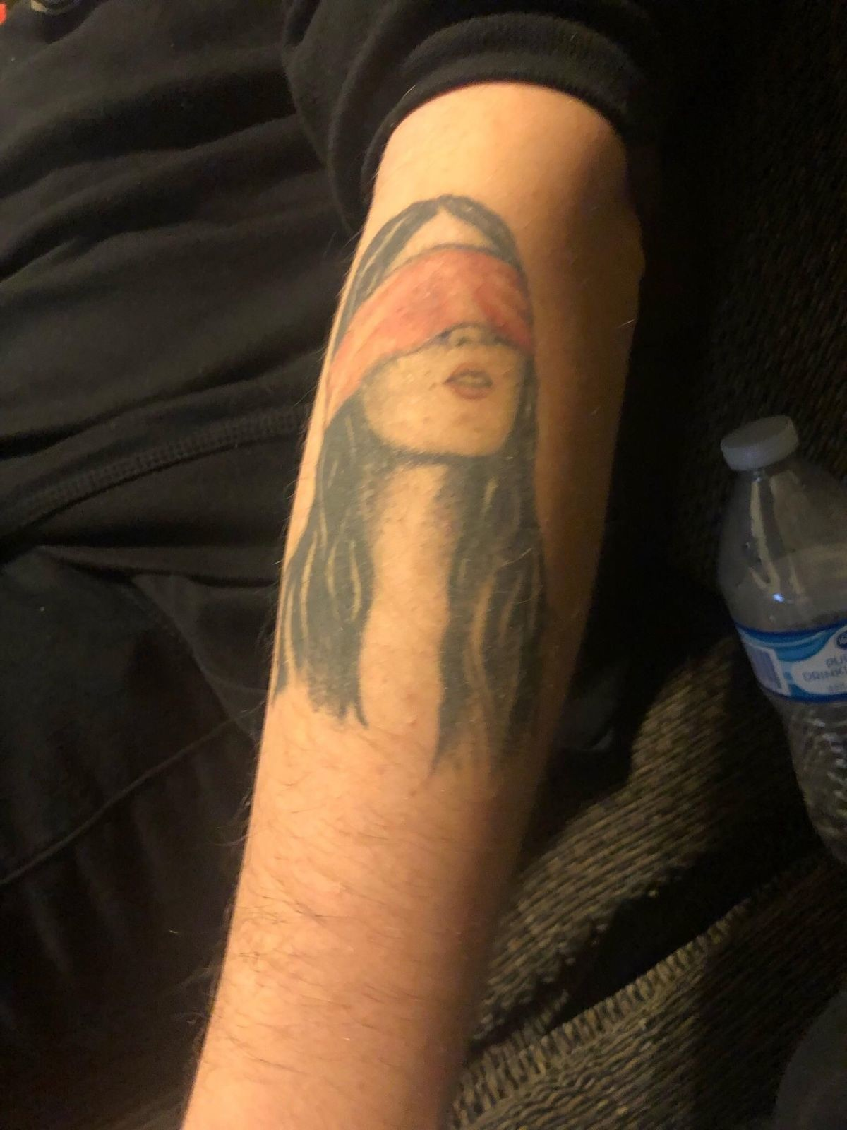 Birdbox Ruined this 2 year old tattoo. .. So what's the actual point of the tattoo?