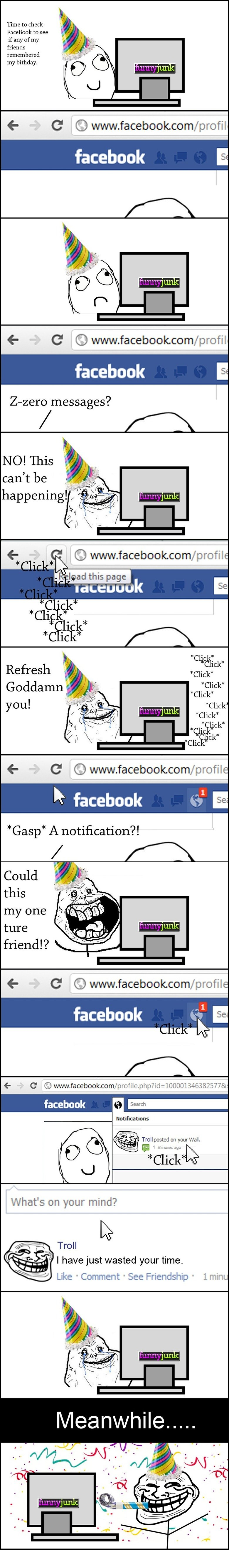 Birthday Surprise.. . Time to check Facebook to see if any of my friends remembered my bithday, C C) wwy, facebook. com/ profil facebook 6 C C) wwy, facebookers