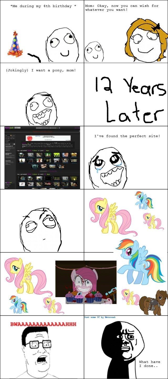 Birthday Wishes. I'm sorry Funnyjunk.. And Bronies, you are welcome.. Me during my tth birthday Mam: Okay, new you can wish for whatever you want! Jokingly} T w