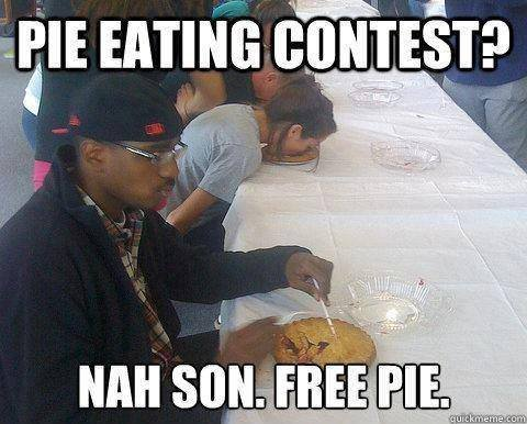 Black people.... . Teii?,. Yes, become one with the pie...