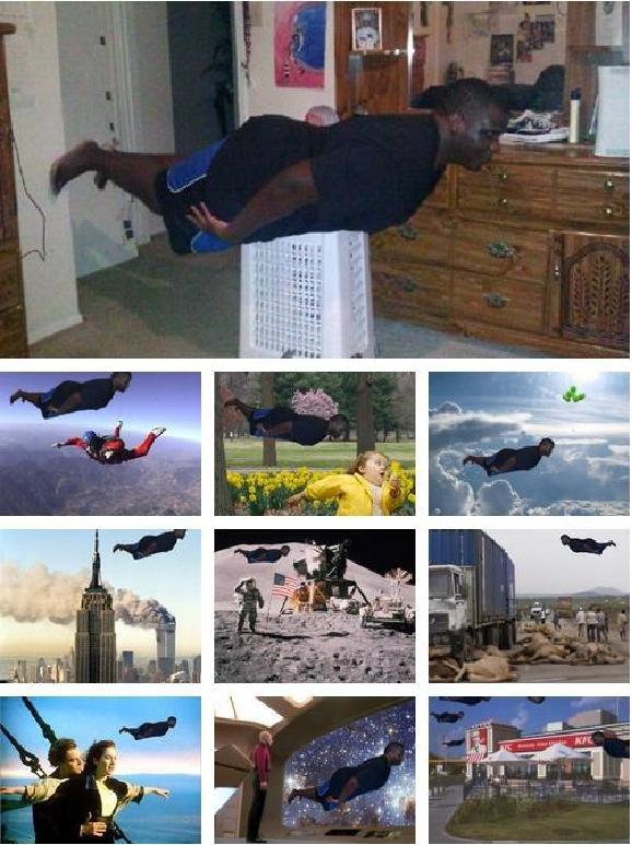 Black Guy Planking. .. lol