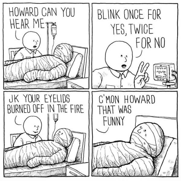 Blink. He later died and became a red ghost... Come on Howard. Have a sense of humor.