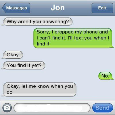 Blonde???. professional troll... or dumb girl hes texting..... BEEF. y
