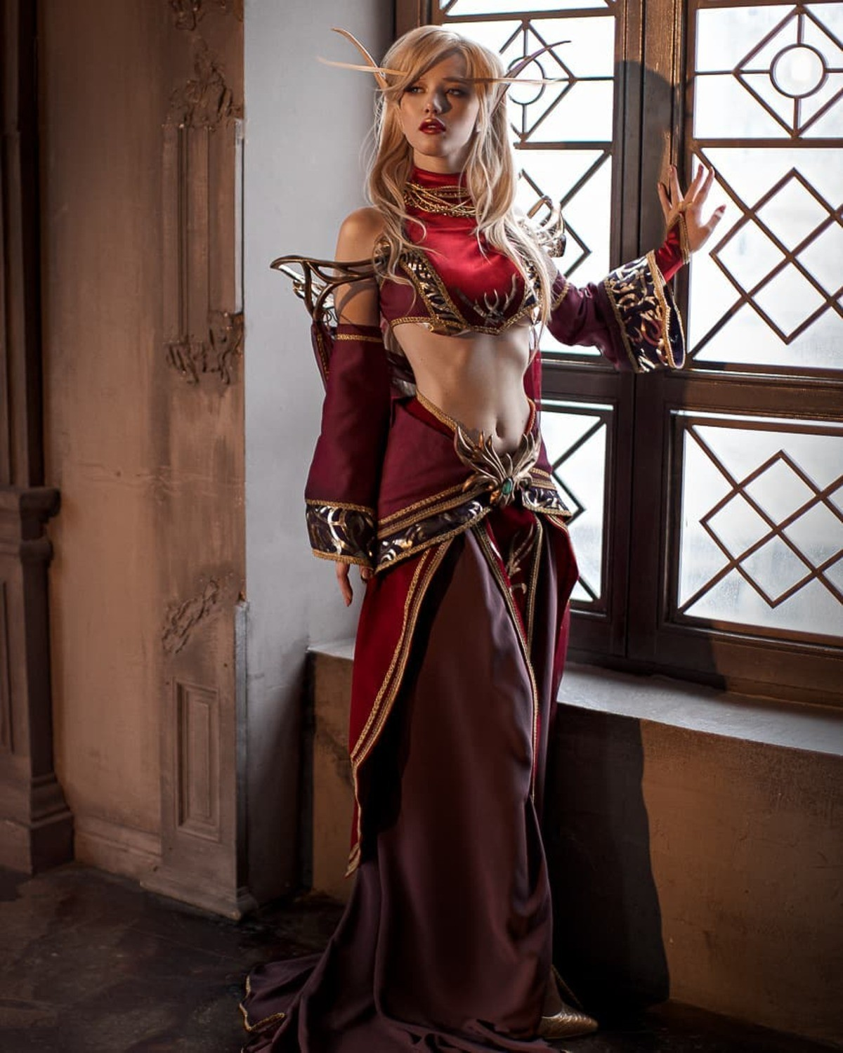 Blood Elf by ladalyumos. .. Even has the ridiculous eyebrows