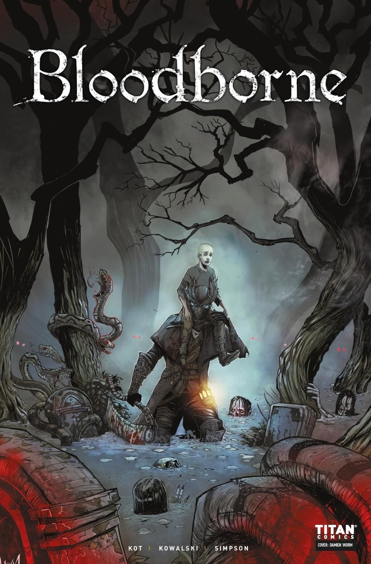 "Bloodborne #2. Bloodborne Issue 2. KOT I KOWALSKI l SIMPSON TITAN' mte:THE DEATH OF SLEEP ."" ISSUE 2 l.. f WRITTEN BY ARTWORK BY j. j. rii' i. i'. Aoeii Kot Pio"