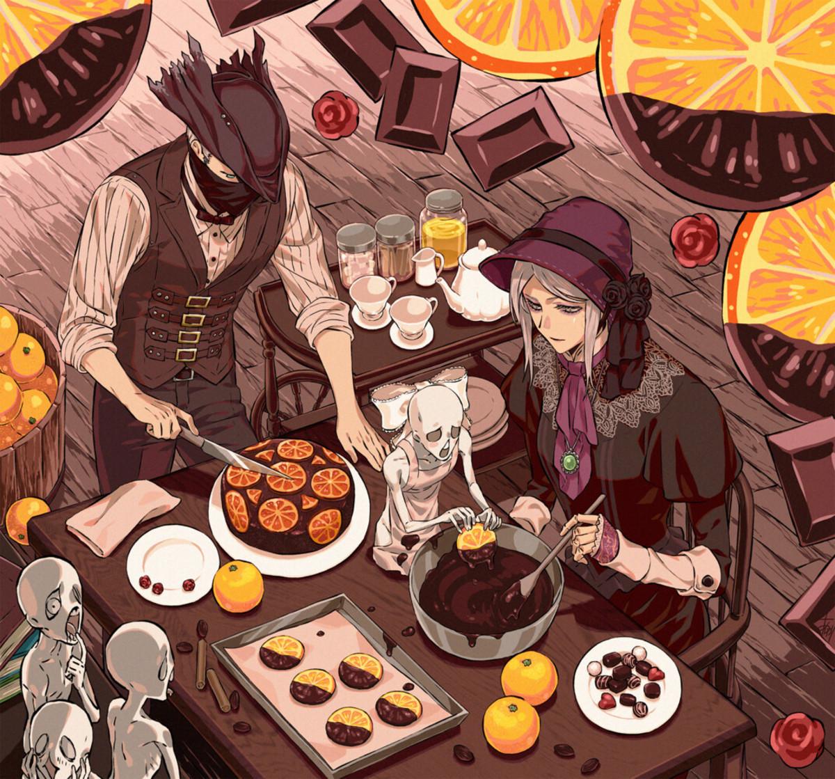 bloodborne pastries. Art by arizuka catacombe.. ...now i'm hungry.