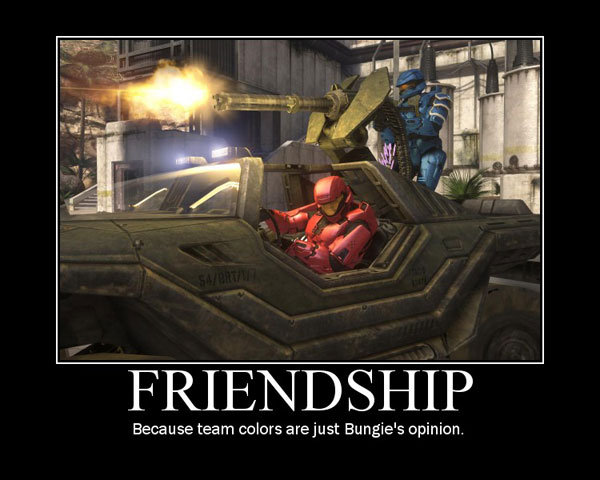 bloods and crips love eachother. . Because team collors are just Bungie' s opinion.