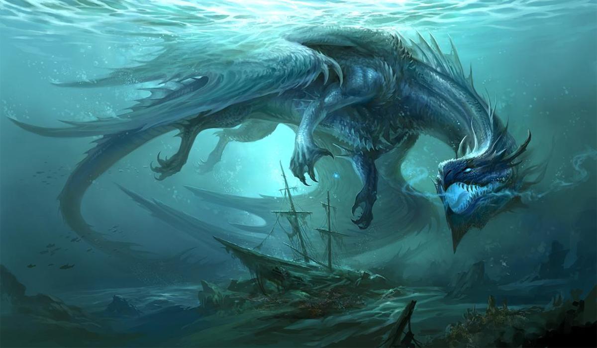 Blue Dragon by Sandara. .