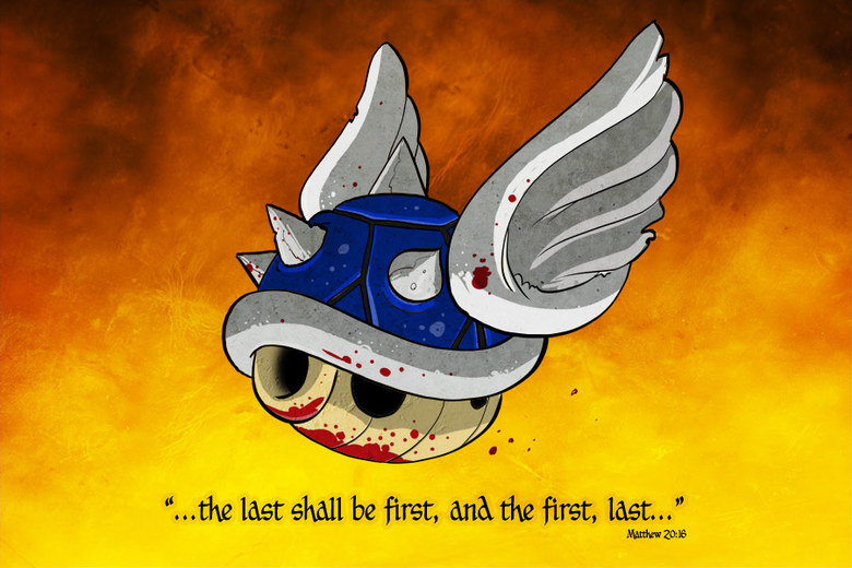 """Blue Prophecy. Mario Kart! All credit to Scott Johnson over at myextralife.com. last ' first first, last"""" l"""