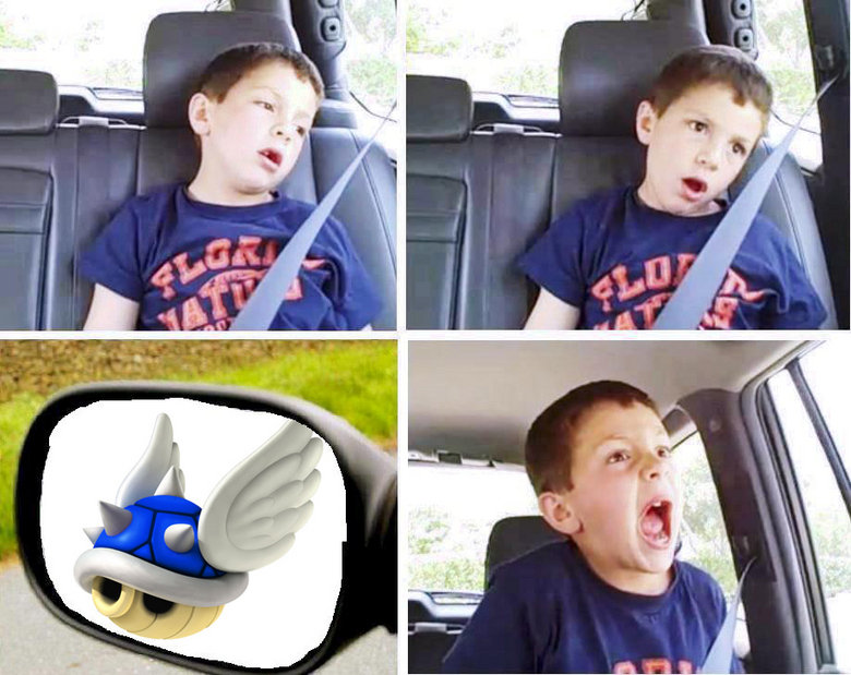 Blue Shell. .. r-r-r-r-r-r-reeeepost but its still funny