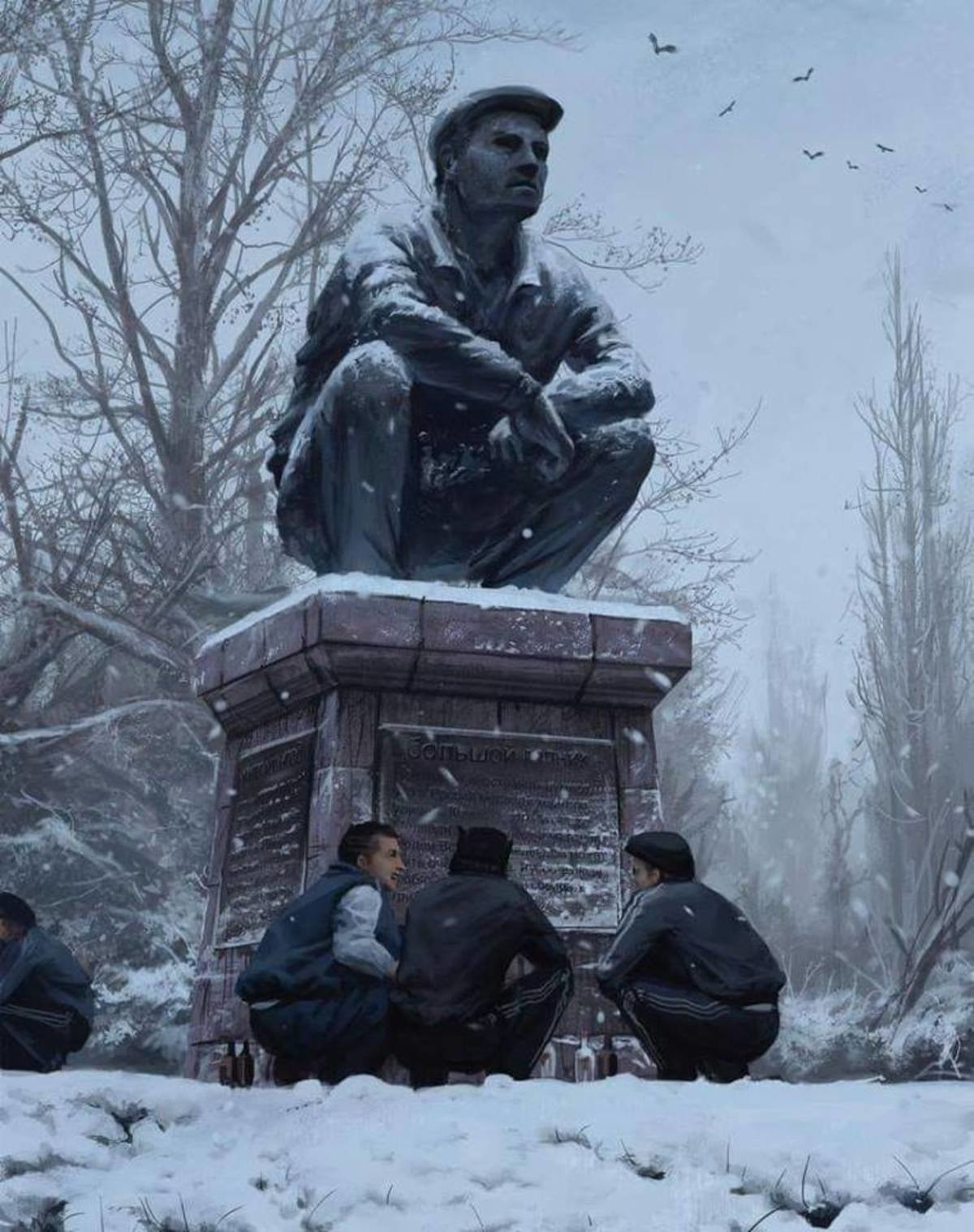 """Blyat! This is beautiful. The artist: .. At first I wanted to ask """"What was that monument actually built for?"""". But then I noticed that it was actually a drawing."""