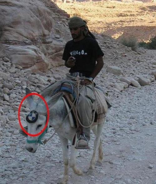 BMW Iraq style. .. and he's a skater
