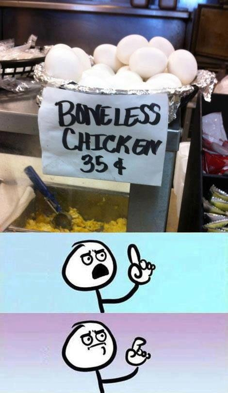 Boneless Chicken. You can get a whole chicken for 35 cents??? .