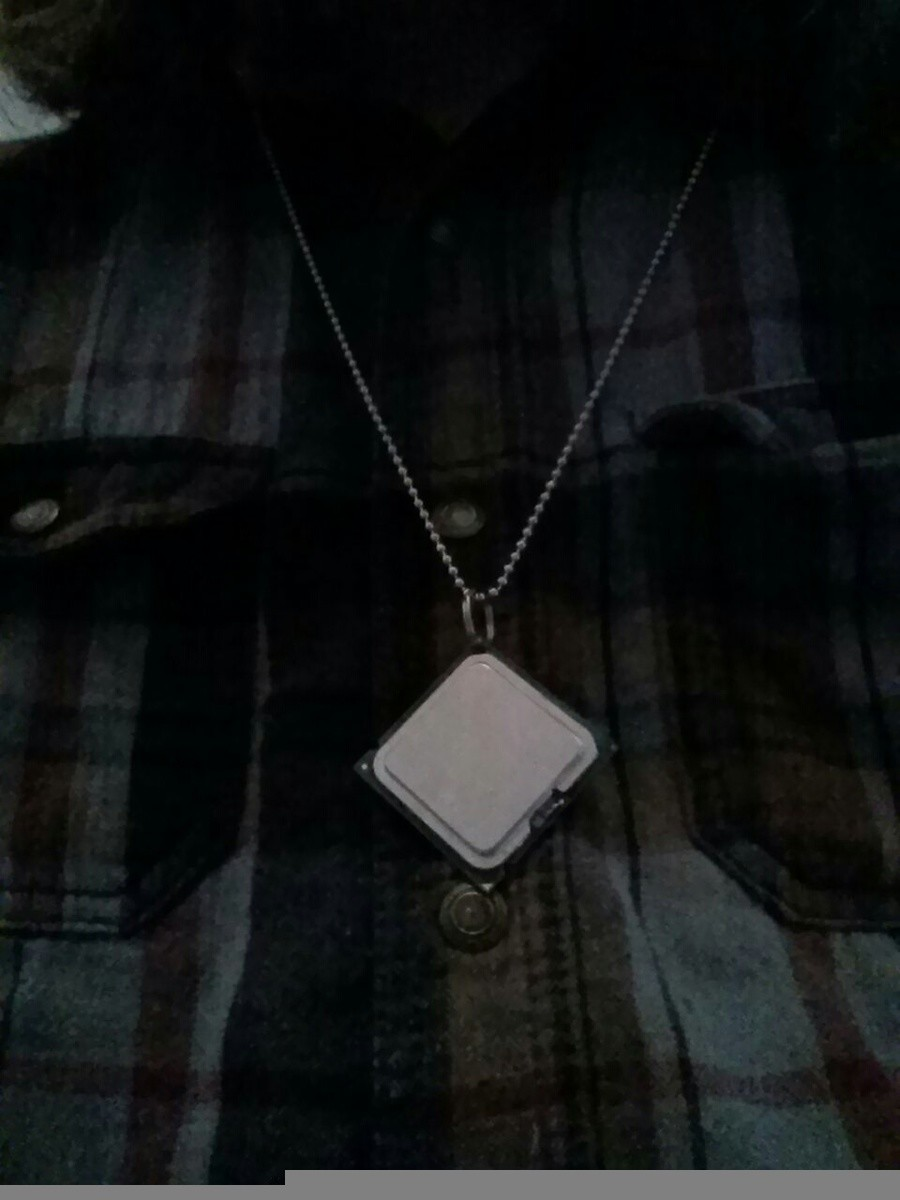 Boredom+cpu=necklace. .. I hope the CPU was dead before you did that, because if it wasn't, it sure as hell is now.