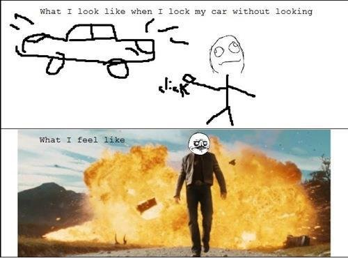 BOSS. . What: E look like when T luck my car without lacking. Haha! So much true!
