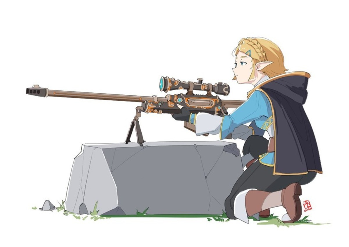 BOTW. Not cute anime girl but needed to post the whole set... link is so ready