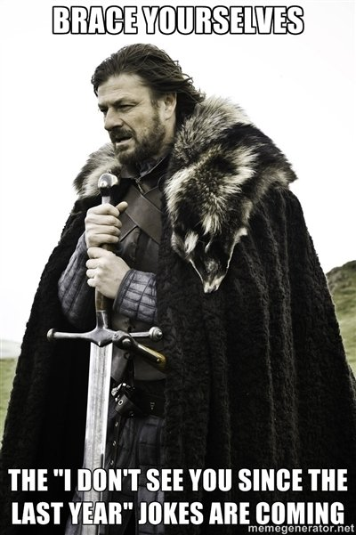 """Brace yourselves, 2012 is here. Every single year someone make the joke!. m ''l ihre SEE You was m my mm"""" muss ABE comm: Itr. Crro cg CII r: Ct"""