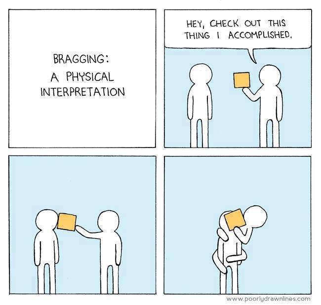 Bragging. The tags lie. HEY, CHECK aux THE: THING 1 Myk) tai' , BRAGGING 1 A PHYSICAL INTERPRETATION cum