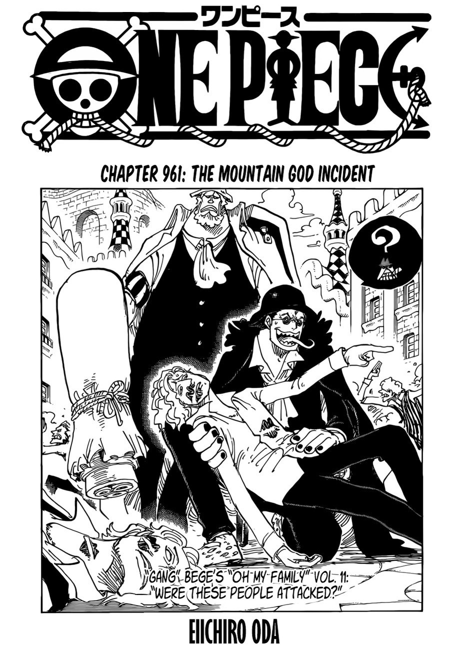 break next week. join list: onepiece (236 subs)Mention History.. I was pretty so so on the chapter until the end. I mean its cool to finally get to see Oden and all, but honestly we already knew he was a badass. But the revea