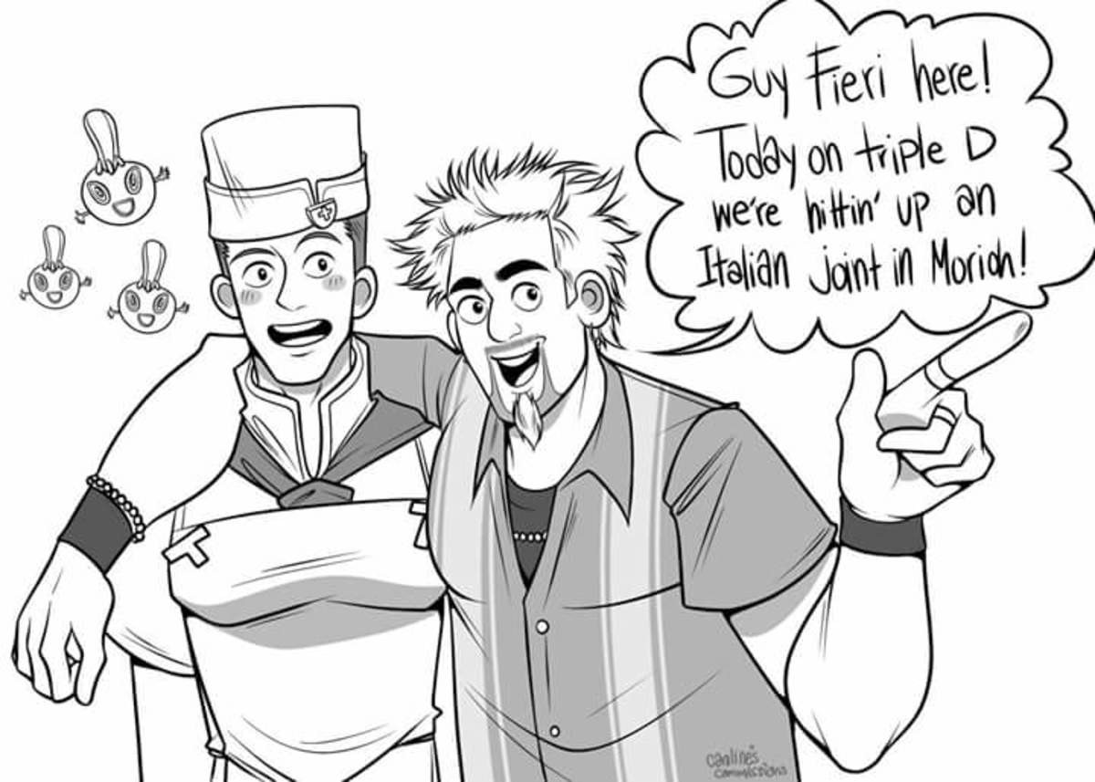 Breakdown at Flavortown. .. Why does the left guy have titsComment edited at .