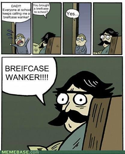 """Briefcase Wanker. Briefcase Wanker Found on the web. at """"ha a ran was breifs.: ase wanker! BREIFCASE. Finally I can use this!!"""