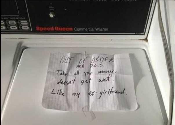 Broken washer. .