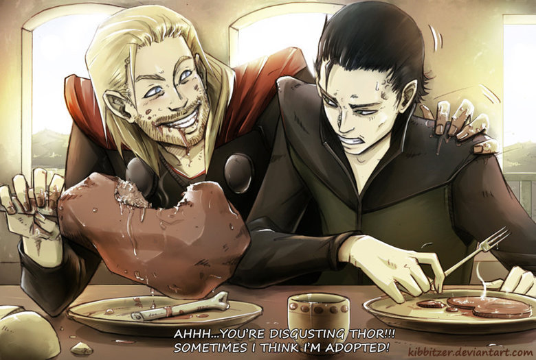 Brothers. Am I the only one who really feels bad for Loki and wishes that he could redeem himself some day? credit goes to Kibbitzer @ .