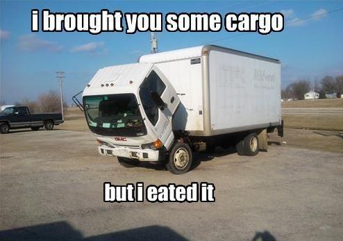 brought you some cargo. . .. . I brought you some cargo I ESV I I but I natal! it