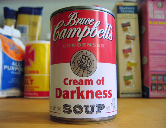 Bruce Campbell's Soup. I'll take 6 cases!.