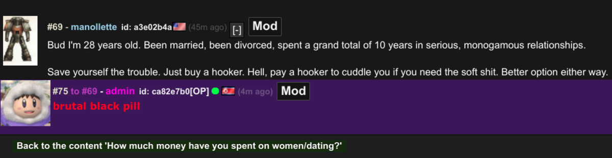 brutal FJ life advice. . 69 - mrgullette id: . I H Mod Bud I' m 28 years old. Been married, been divorced, spent s grand total of 10 years in serious, monogamou
